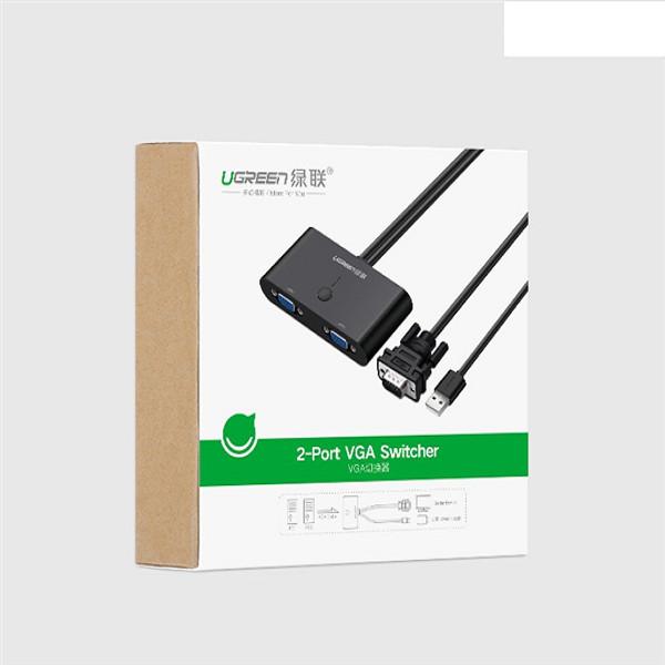 Bộ chuyển đổi 2 cổng VGA màu đen UGREEN MM126 30711 - Hàng Chính Hãng