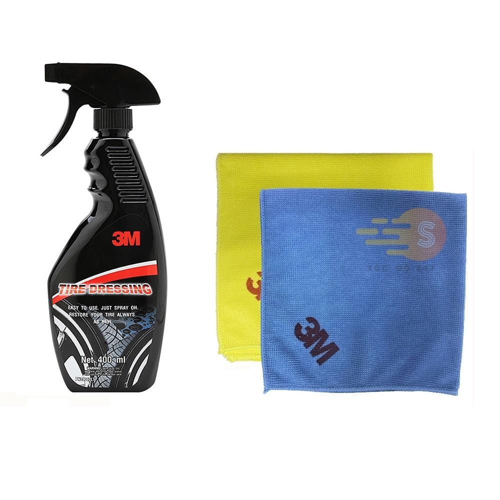 Chai xịt bảo dưỡng lốp ô tô 3M 39042LT tăng khăn lau ô tô chuyên dụng 3M màu ngẫu nhiên