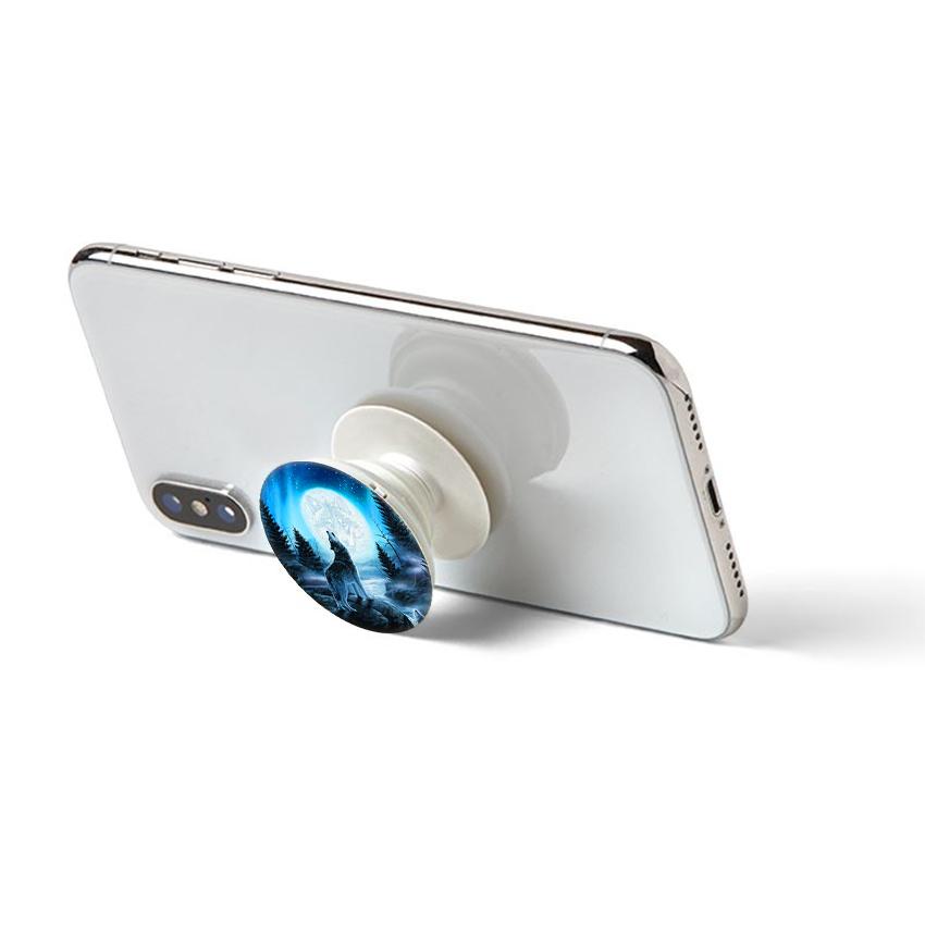 Gía đỡ điện thoại đa năng, tiện lợi - Popsockets - In hình WOLF 04 - Hàng Chính Hãng