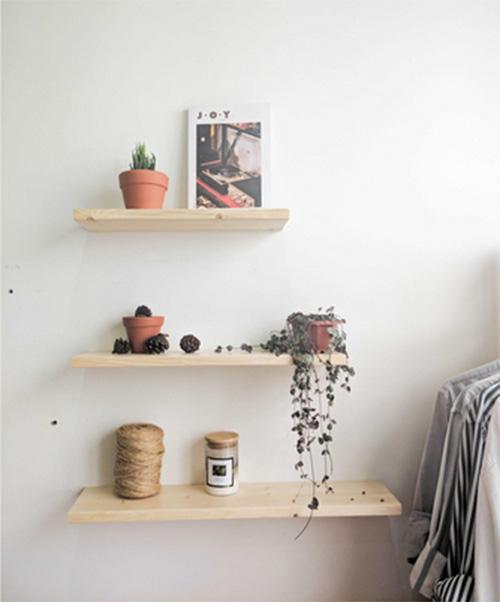 Bộ kệ gỗ treo tường thanh ngang rộng 15cm/Giá gắn tường decor trang trí nhà cửa bền đẹp