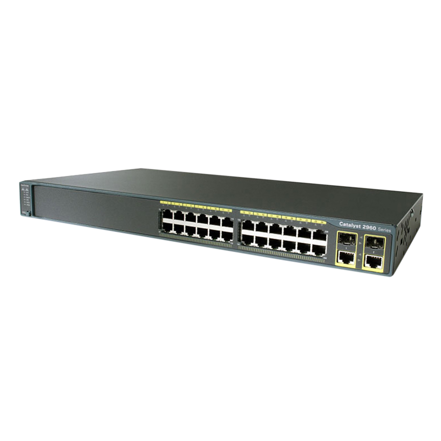 Thiết Bị Chuyển Mạch Switch CiscoWS-C2960+24TC-L - Hàng Nhập Khẩu