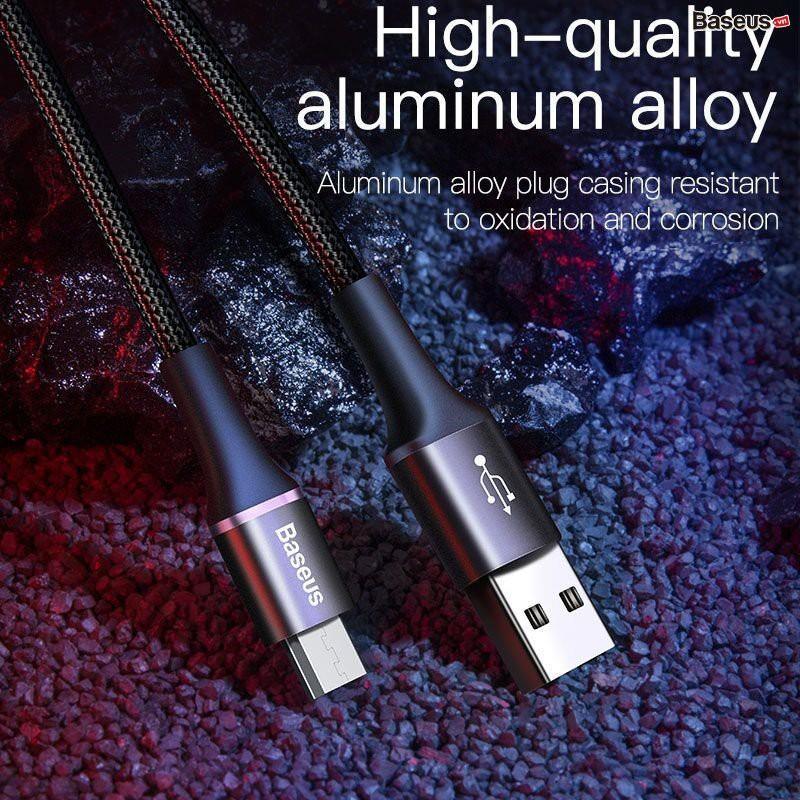 Cáp sạc nhanh Micro USB Qualcomm 3.0 A - Baseus Halo Data sạc siêu bền - Hàng Chính Hãng