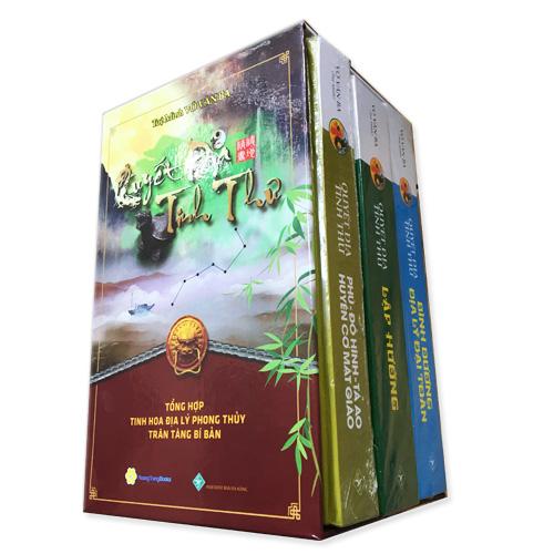 Boxset Quyết Địa Tinh Thư ( Bộ 3 Cuôn ) : Quyết Địa Tinh Thư - Phú - Đồ Hình Tả Ao - Huyền Cơ Mật Giáo + Quyết Địa Tinh Thư - Lập Hướng + Quyết Địa Tinh Thư - Bình Dương Địa Lý Đại Toàn