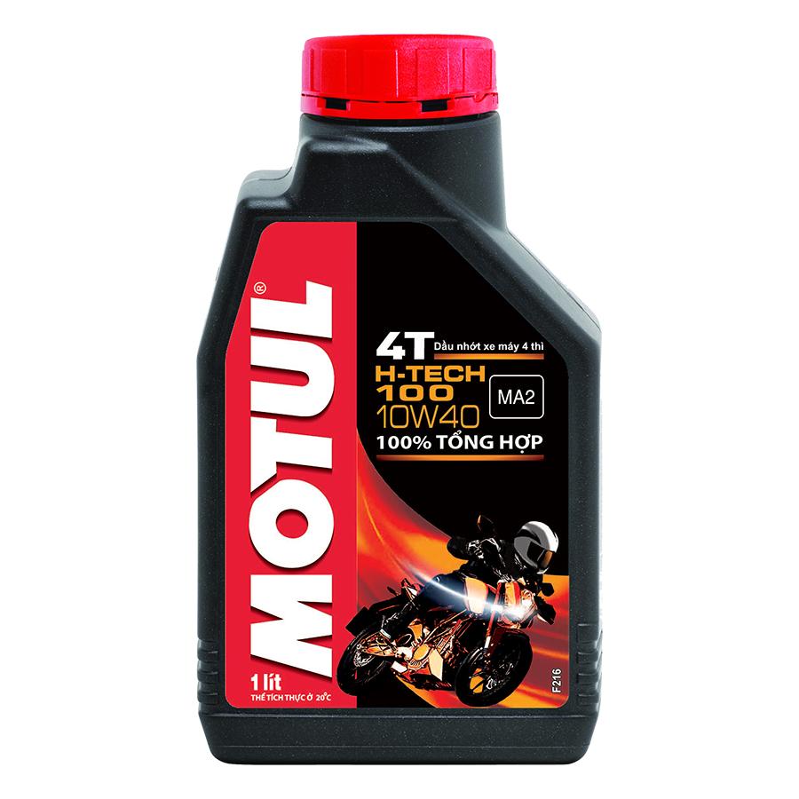 Nhớt Xe Số Motul H-Tech 100 4T 10W40 12x1l Vn (1L)