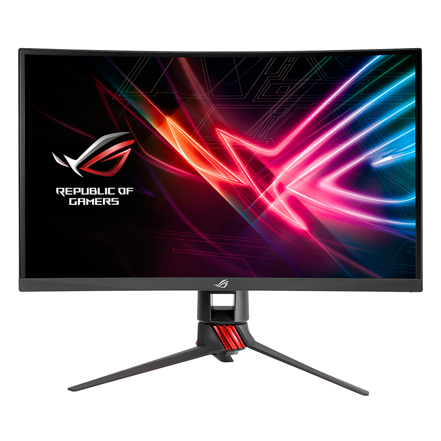Màn Hình Gaming Cong ASUS ROG Strix XG27VQ 27 inch Full HD (1920 x 1080) 1ms 144Hz Aura RGB FreeSync™ VA- Hàng Chính Hãng