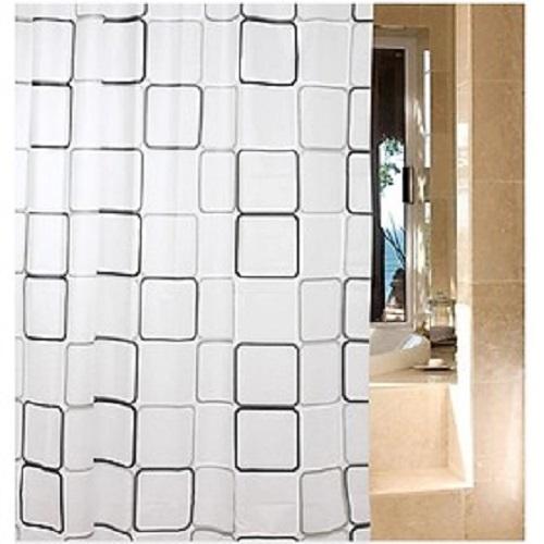 Màn rèm che cửa, nhà tắm chống thấm nước 180x 200cm+ Tặng kèm khoen, giao mẫu ngẫu nhiên