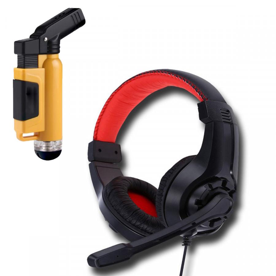 Tai nghe chụp tai G1 kèm mic đàm thoại dành cho Game thủ chống nhiễu, chống ồn tốt + Tặng Hộp Quẹt Bật Lửa Khò Mỏ Vịt Cao Cấp