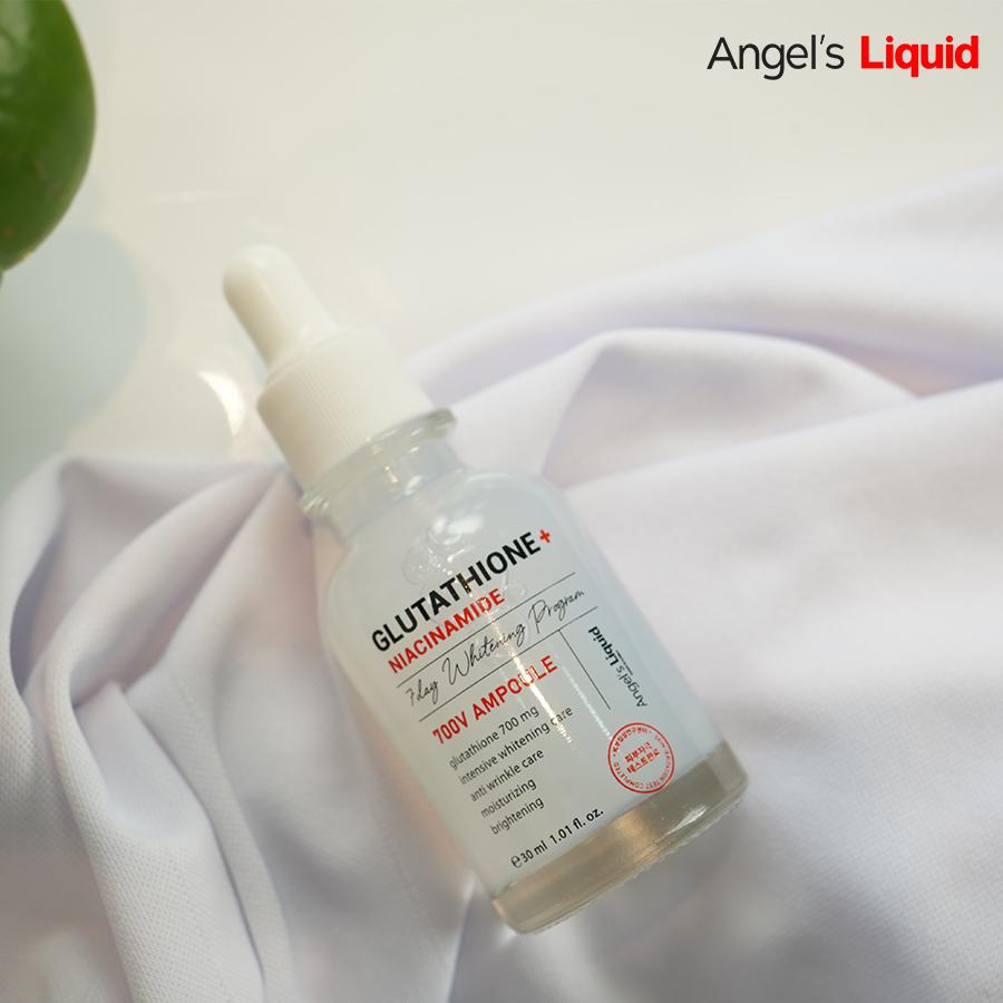 Huyết thanh truyền trắng hỗ trợ trị nám Angel's Liquid Glutathione Plus Niacinamide 700 V-ampoule 30ml