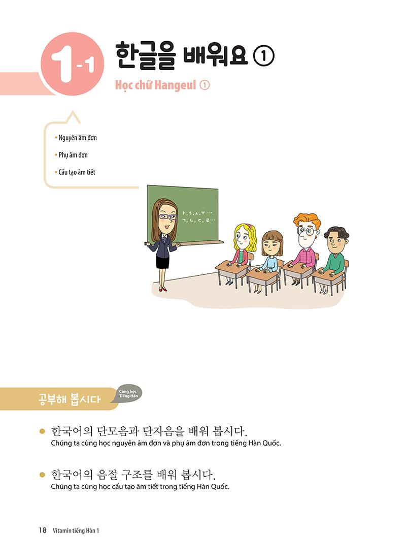 Vitamin Tiếng Hàn 1 (Học Kèm App: MCBooks Application)