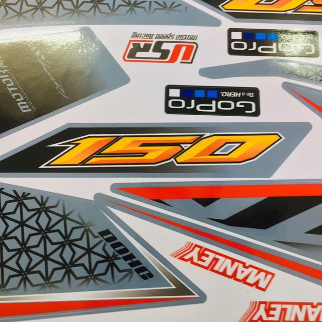 Tem dành cho xe Winner GTR xám xi măng Rời (bộ)