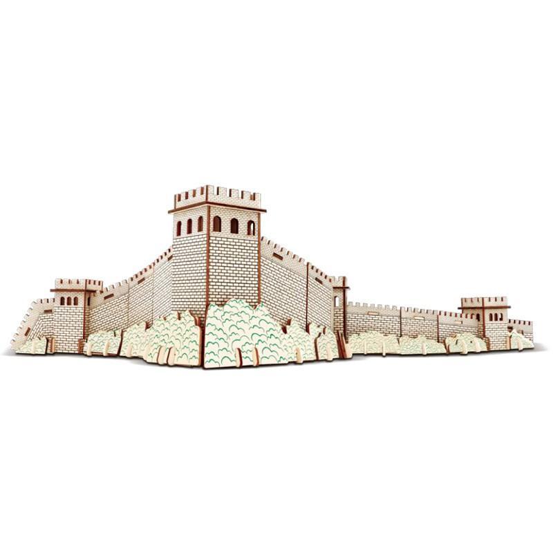 Đồ chơi lắp ráp gỗ 3D Mô hình Vạn lý Trường thành Laser HG-F028