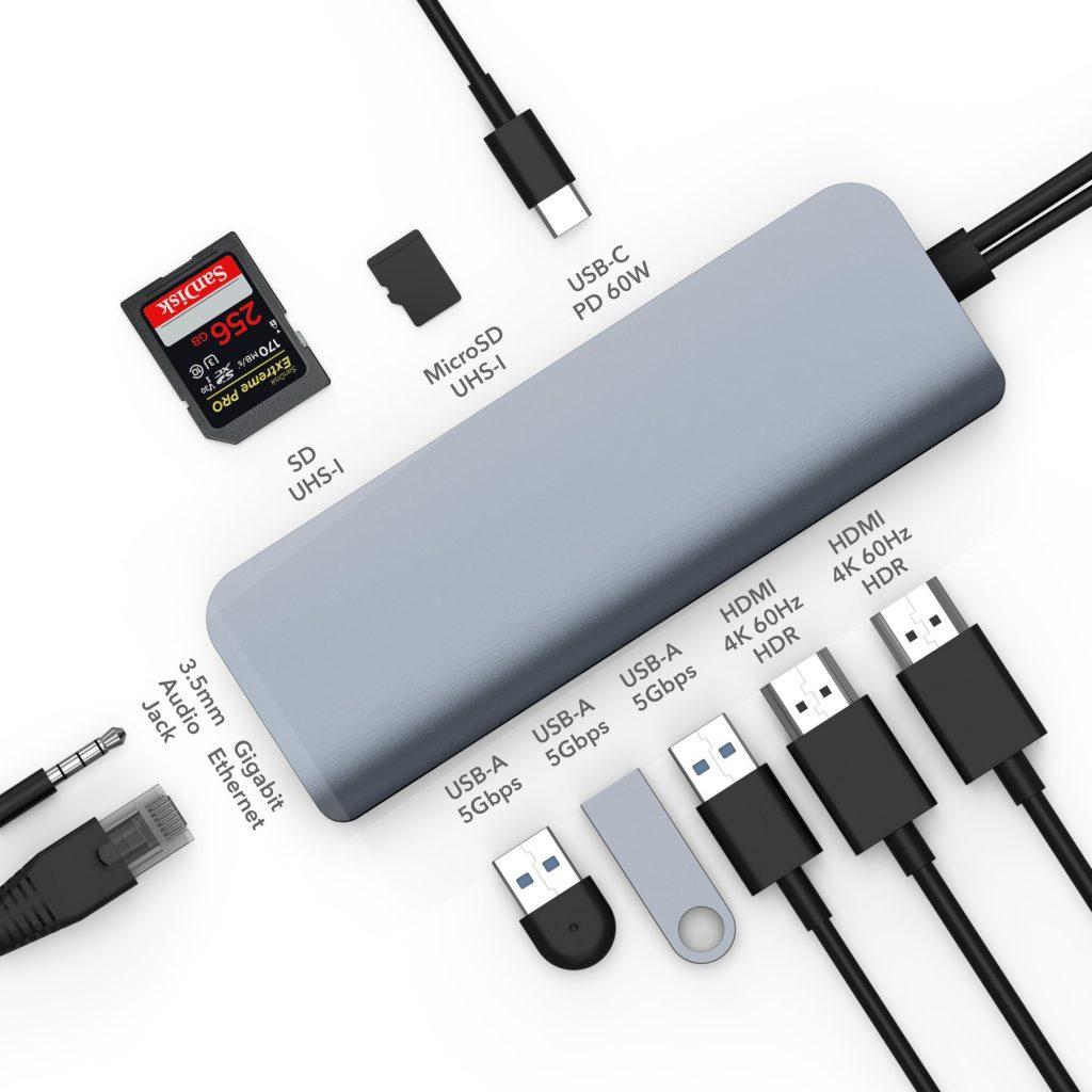 CỔNG CHUYỂN HYPERDRIVE VIBER 10-IN-2 4K60HZ USB-C HUB FOR MACBOOK/IPADPRO/LAPTOP/SMARTPHONE -HÀNG CHÍNH HÃNG