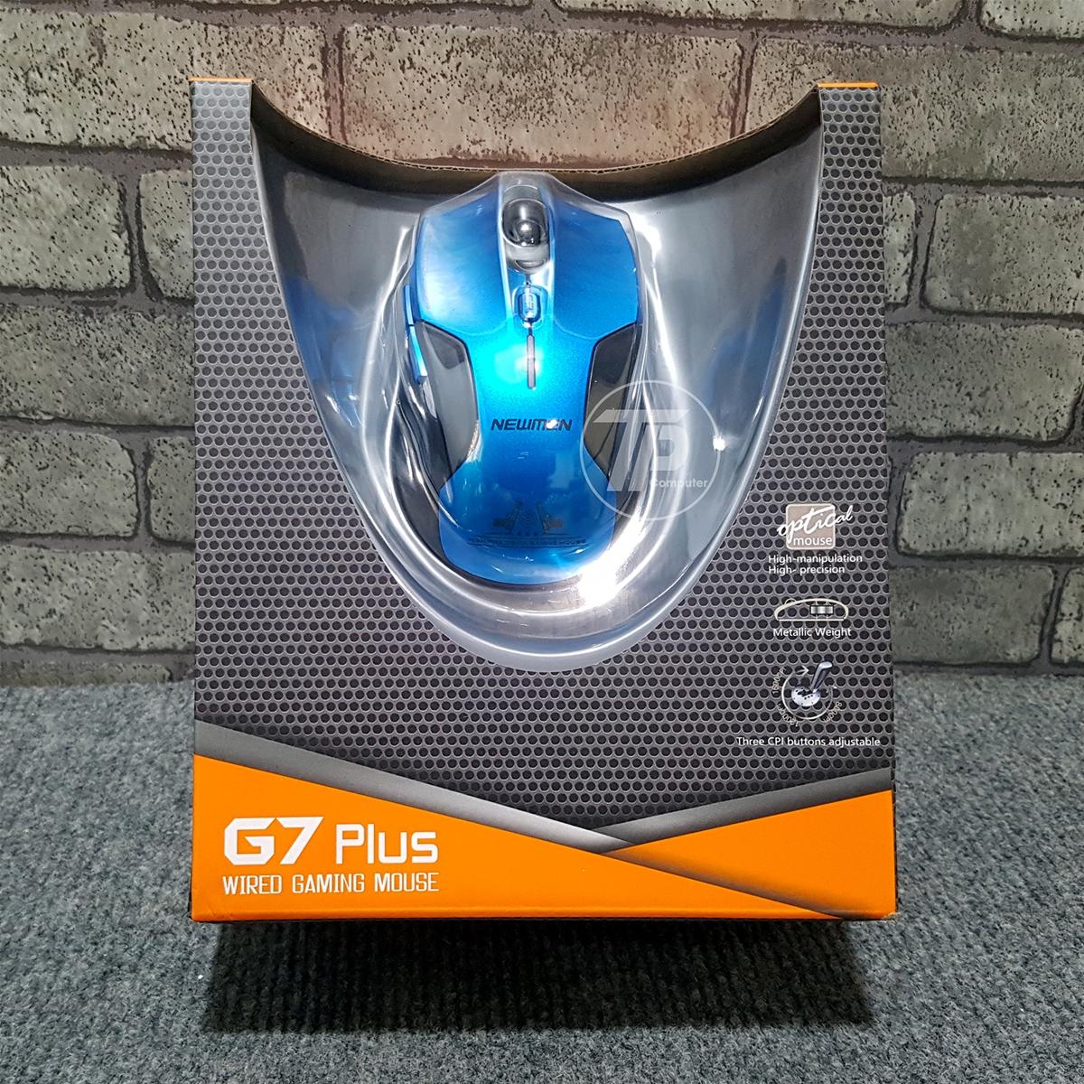 Chuột Dây Quang Gaming NEWMEN G7 Plus (Xanh) Cao cấp - Hàng Chính Hãng