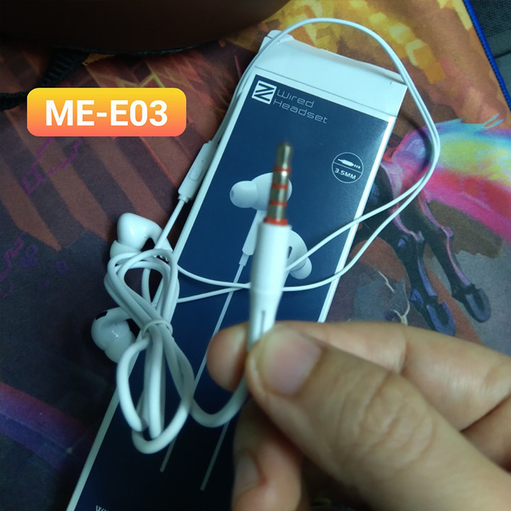 Tai nghe nhét tai ZUZG ME-E03 tích hợp micro đàm thoại - Hàng nhập khẩu
