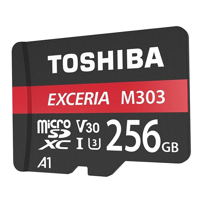 Thẻ Nhớ MicroSDXC Toshiba Exceria M303 256GB UHS-I U3 4K V30 A1 R98MB/s W65MB/s - Hàng Chính Hãng