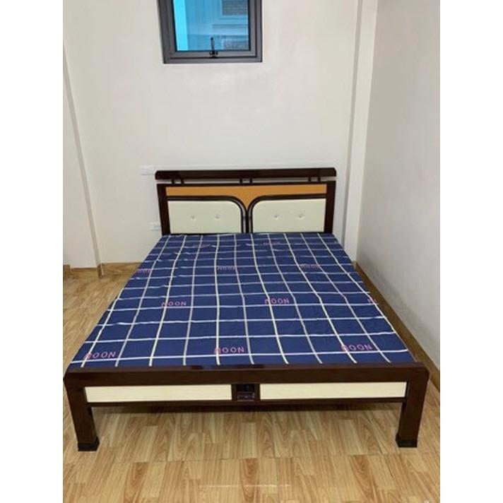 Giường sắt kiểu gỗ ngang 1m6 dài 2m