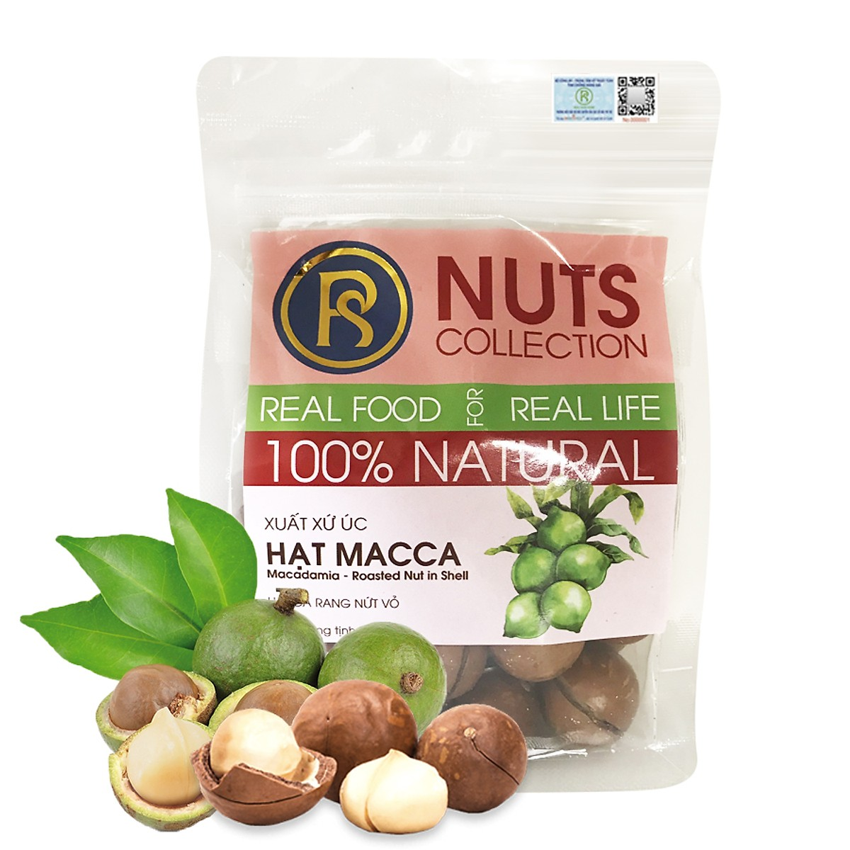 Túi Hạt Macca Dinh Dưỡng cho Mẹ - Real Food Store ( Nhiều lựa chọn )