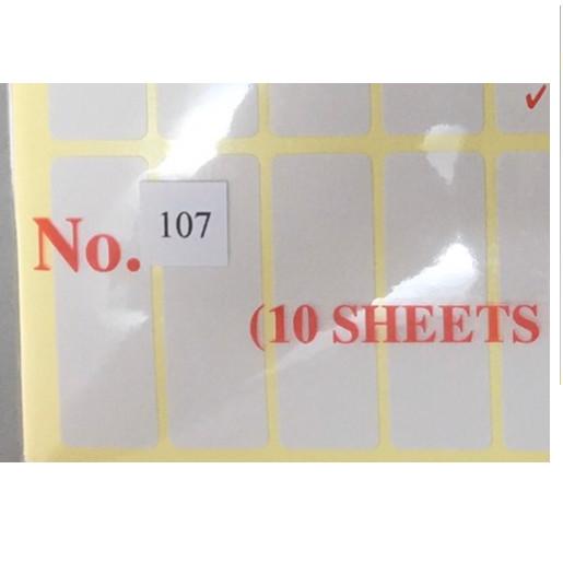 1 XẤP NHÃN DÁN, GHI CHÚ, GHI TÊN DECAL NO.107