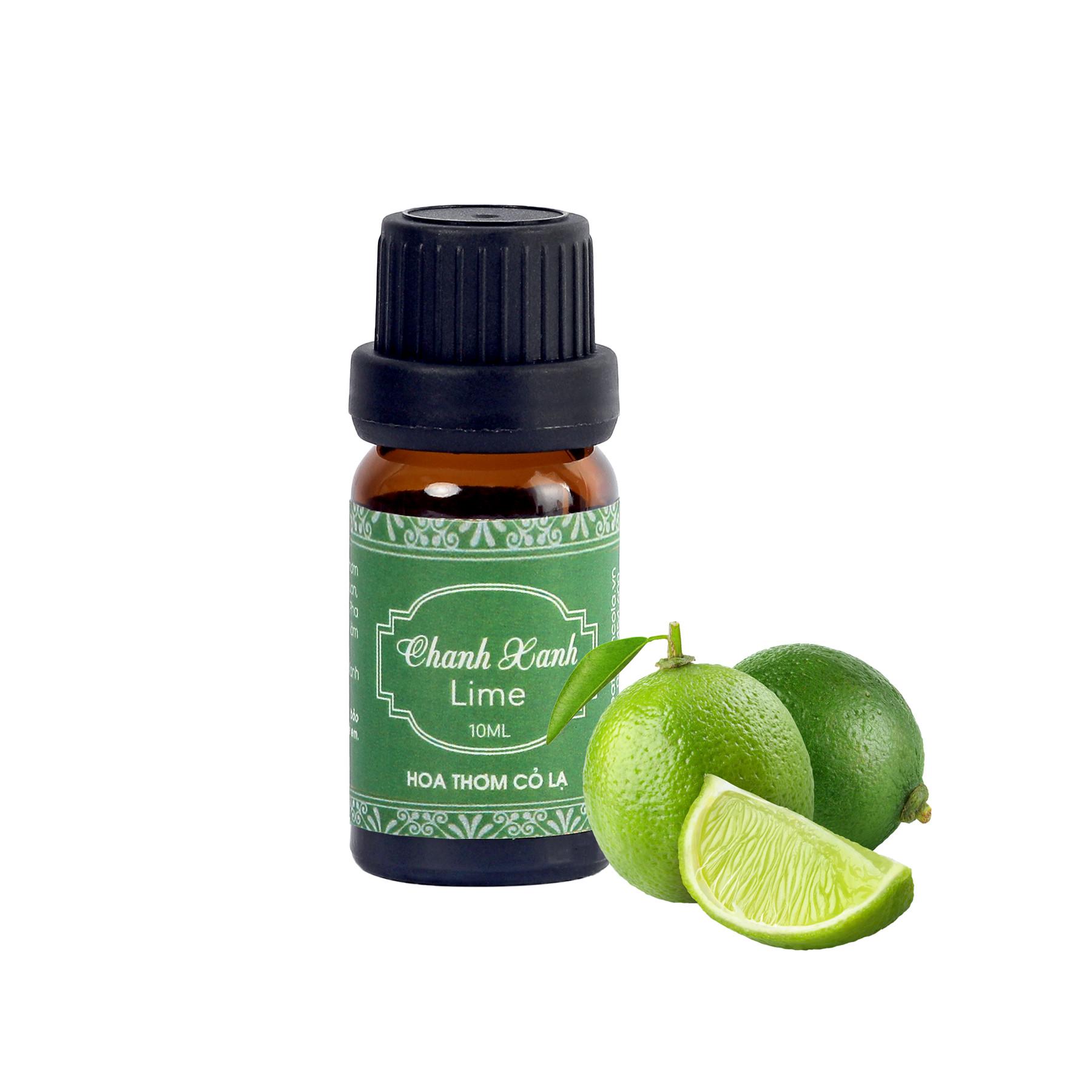 Tinh Dầu Chanh (Xanh) - Lime Essential Oil 10ml - Hoa Thơm Cỏ Lạ