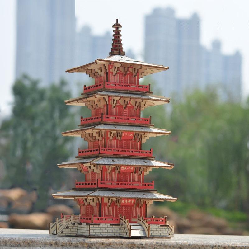 Đồ chơi lắp ráp gỗ 3D Mô hình Hàn Sơn Tự Nhật Bản