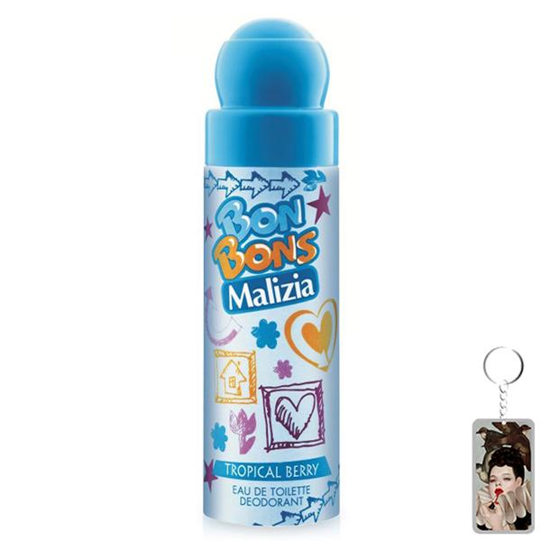 Nước hoa xịt toàn thân Malizia Bon Bons Deodorant Eau de Toilette Tropical Berry 75ml tặng kèm móc khóa