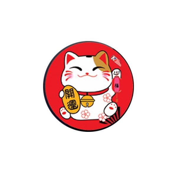 Miếng dán điện thoại mèo chiêu tài