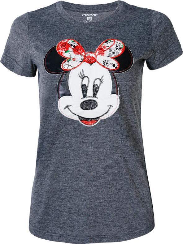 Áo Thun Nữ In Hình Chuột Mickey PERVIC VM089 - Xám Size L