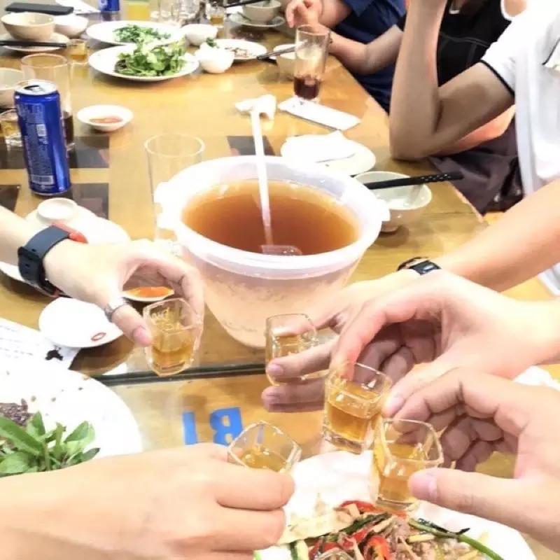 Bát Ướp Lạnh Rượu, Dụng Cụ Ướp Lạnh, Làm Mát KUNBE Kèm Gáo Múc - Họa Tiết Hoa Văn Dày Dặn, Hàng Việt Nam Chất Lượng Cao