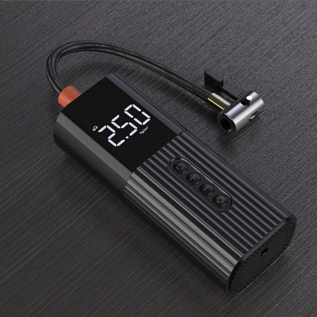Máy Bơm hơi bơm lốp có LCD hiển thị mini cầm tay Licheers - Bơm xe đạp Hãng  OEM