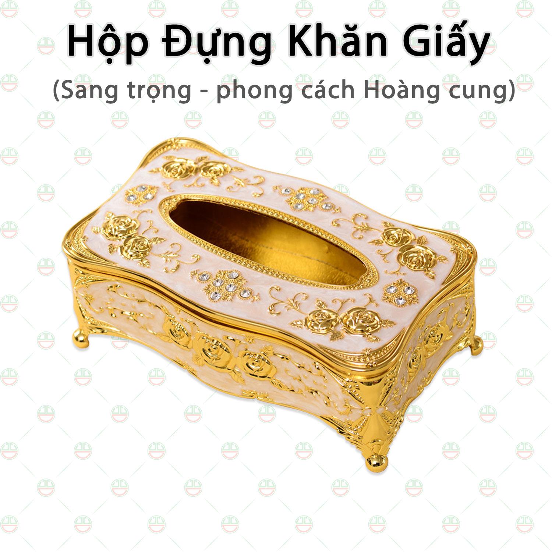 [Xịn Sò] Hộp Đựng Giấy Ăn KhoNCC Hàng Chính Hãng - Giúp Không Gian Nhà Sang Chảnh Hơn - NLVQ-5088-HDKGST - (Màu Vàng Gold)