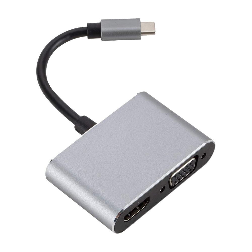 Cáp chuyển USB Type-C sang HDMI và VGA Rapoo XD10V - Hàng chính hãng