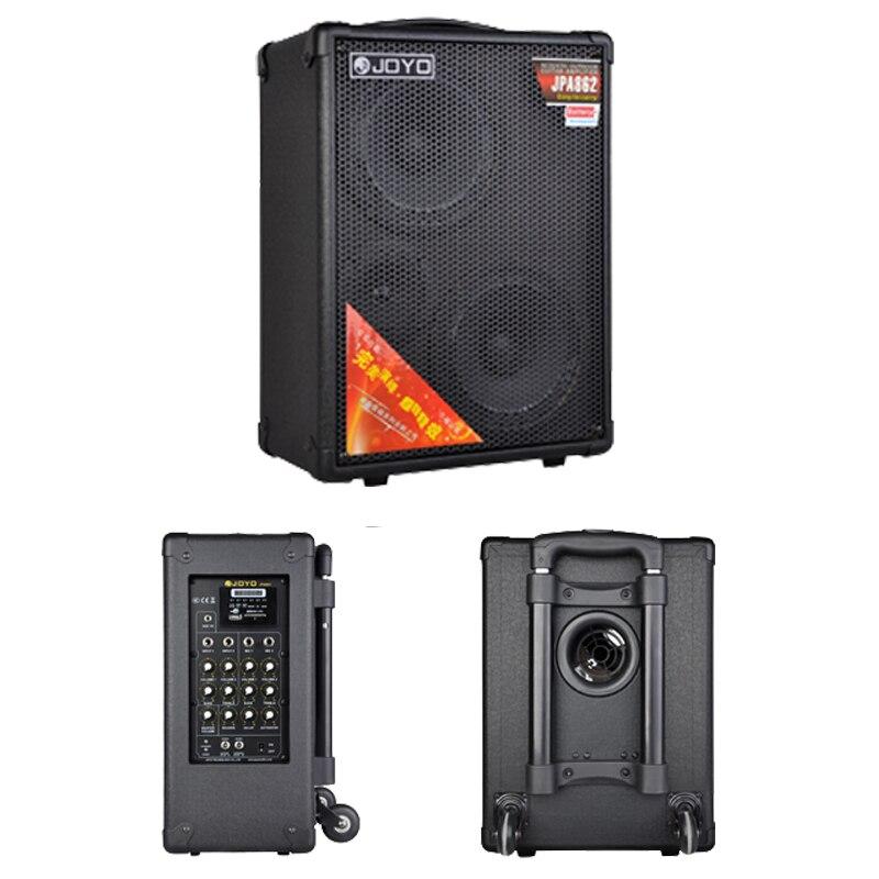 Bộ Ampli khuếch đại âm thanh đường phố di động Joyo JPA 862 - Loa kéo (Gồm Loa, nguồn,  Mic cầm tay và Mic cài áo) - Hàng chính hãng