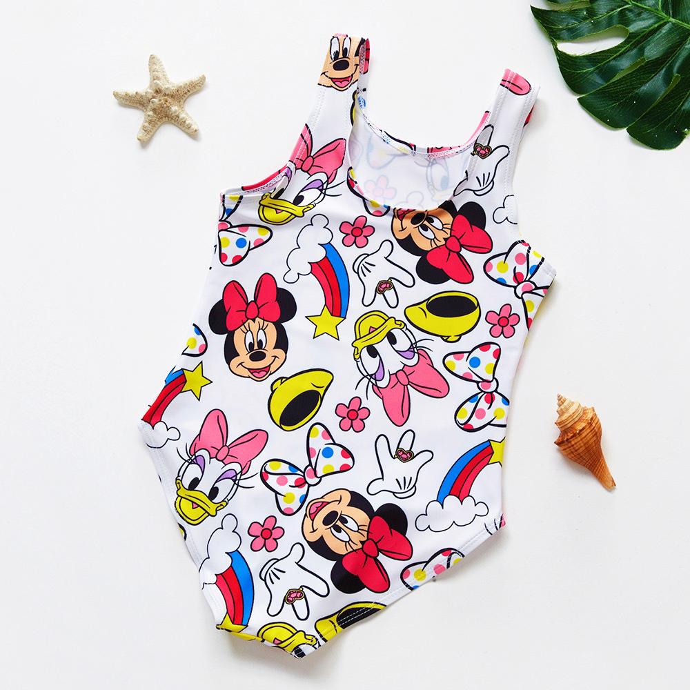 Đồ bơi cho bé gái Mickey vịt Donald Minnie vầu vồng liền thân phối màu cực xinh chất đẹp  1-6T - Misolbooks ảnh thật