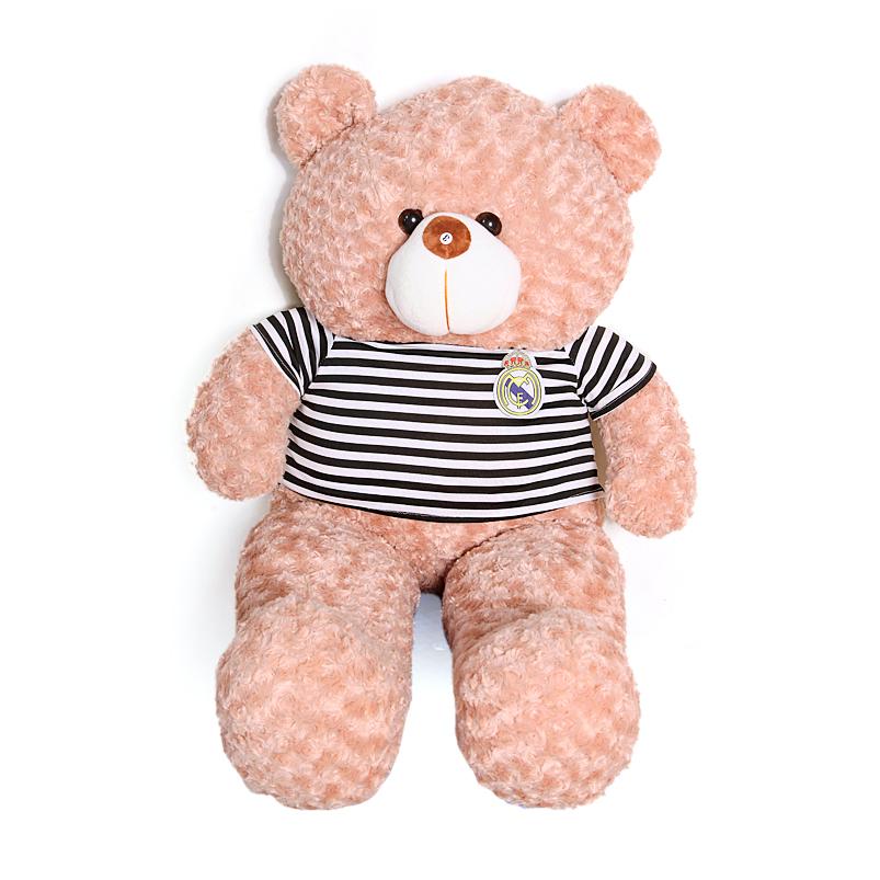 Gấu bông teddy cao cấp khổ vải 1m4 màu vani