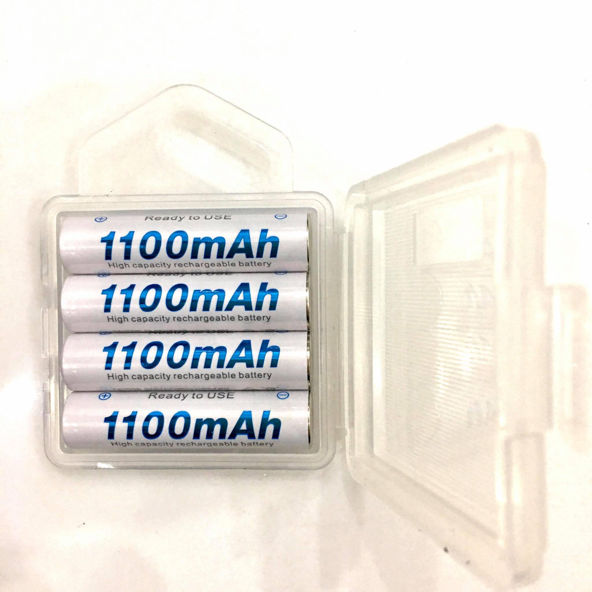 Vỉ 4 Pin sạc AAA (3A) , Pin đũa sạc dung lượng 1100mAh Tặng kèm hộp đựng pin