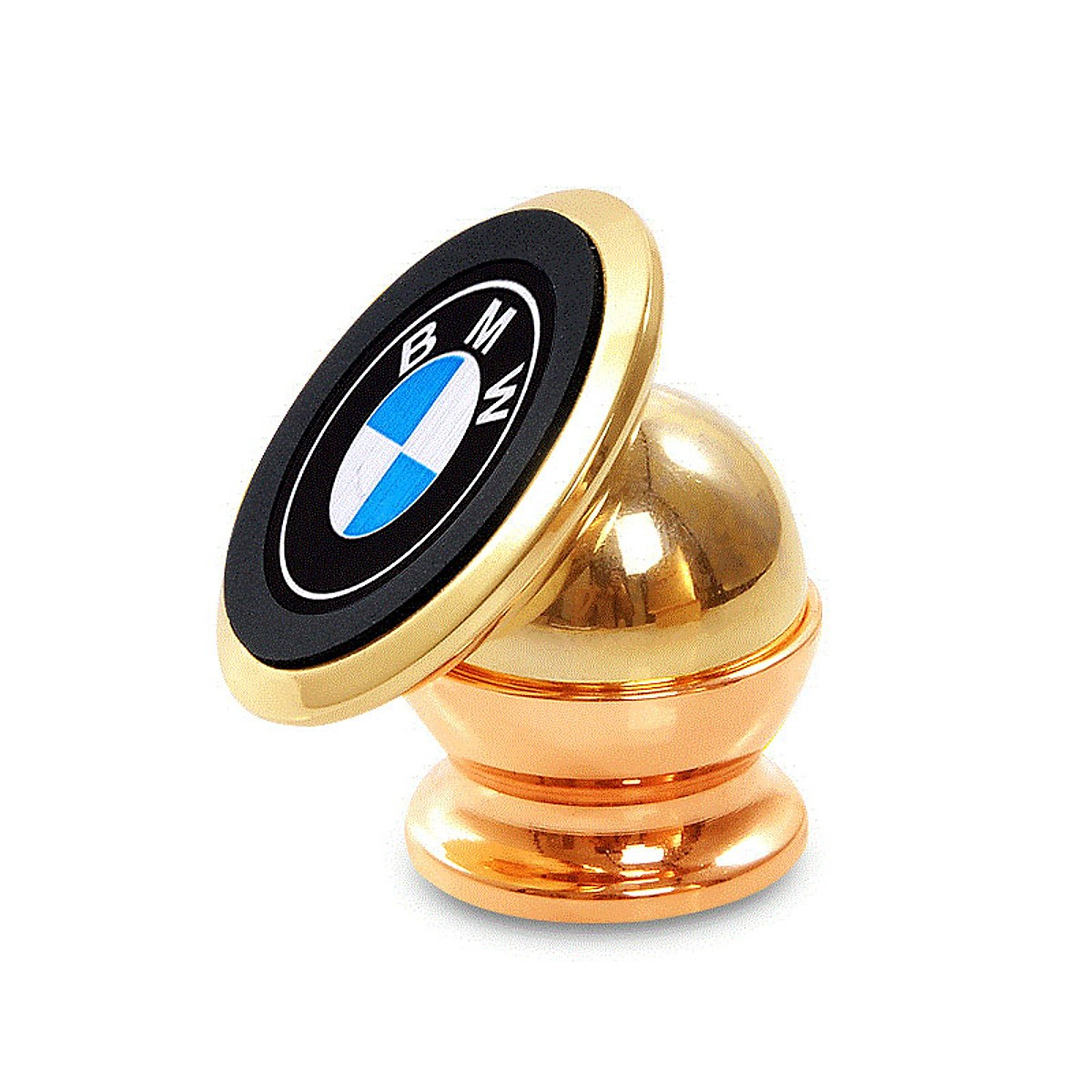 Giá đỡ đế hít nam châm điện thoại 360 độ trên xe hơi ( logo ngẫu nhiên ) - Tặng Vòng tay RUBY