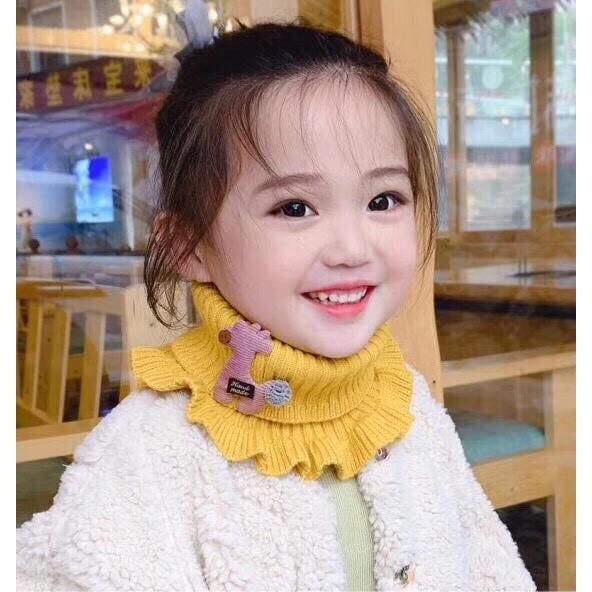 Khăn ống nhún bèo cho các bé gái thành công chúa xinh