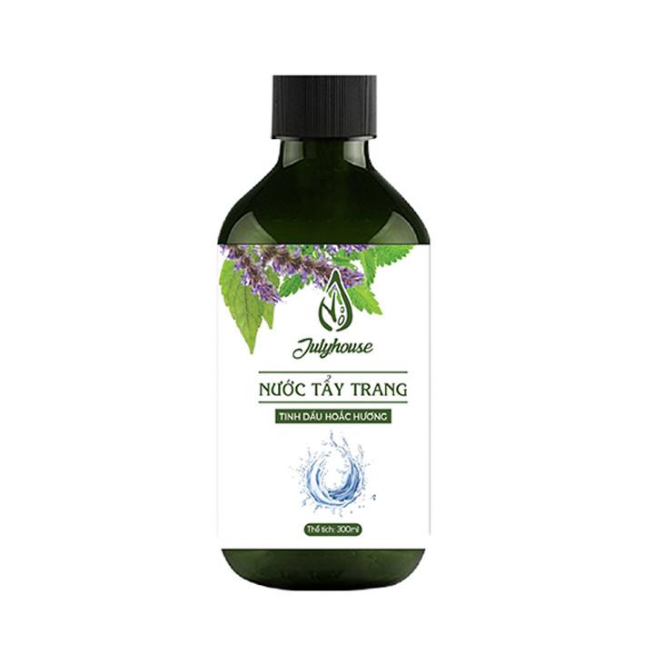 Nước tẩy trang tinh dầu Hoắc Hương 300ml JULYHOUSE thành phần thiên nhiên, an toàn cho da, mùi thơm tinh dầu thư giãn