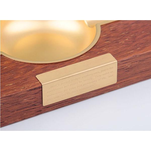 Gạt tàn xì gà gỗ 2 điếu HB-3018