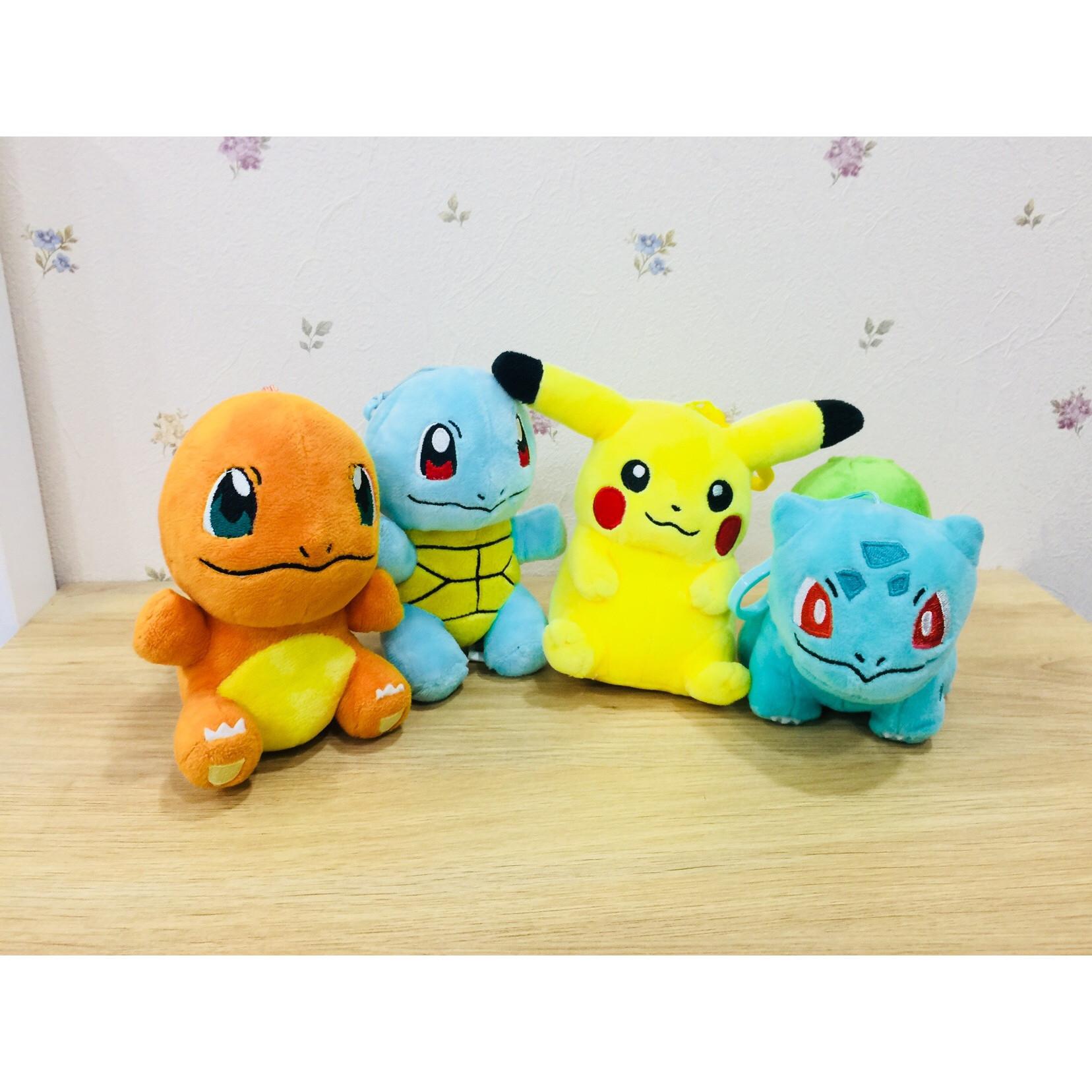 Gấu bông pokemon combo 4 pokemon starter