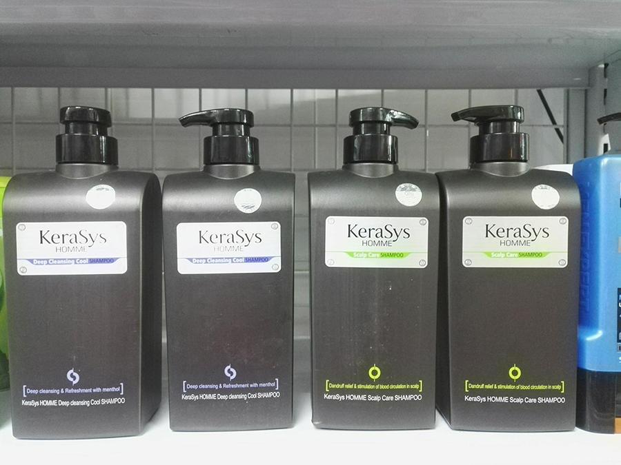 Dầu gội nam Kerasys Home Deep hương bạc hà mát lạnh và tạo nếp tóc Hàn Quốc 550ml + Móc khoá