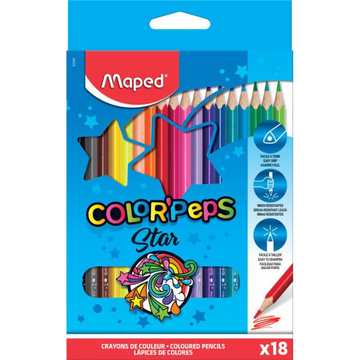 Chì màu Maped - 18 cây