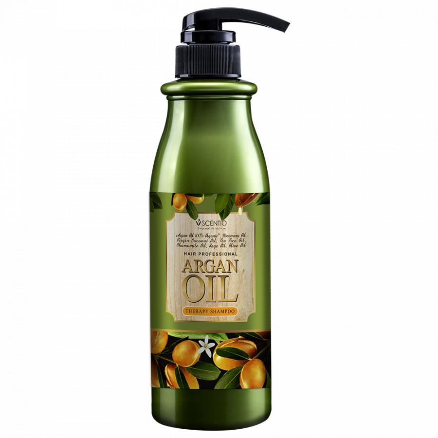 Dầu Gội Phục Hồi Tóc Khô Và Hư Tổn Chiết Xuất Dầu Argan Scentio Hair Professional 500ml