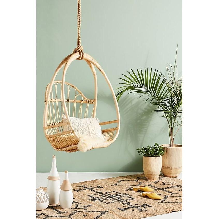 Xích Đu Mây Đơn Giản- Wicker Rattan Swing / Hanging Egg Chair In Classic Style-OT006