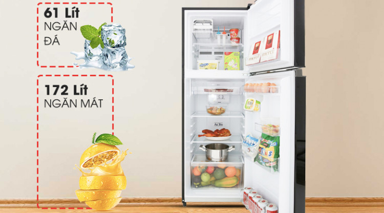 Tủ lạnh Toshiba Inverter 233 lít GR-A28VM(UKG) - dung tích 233 lít