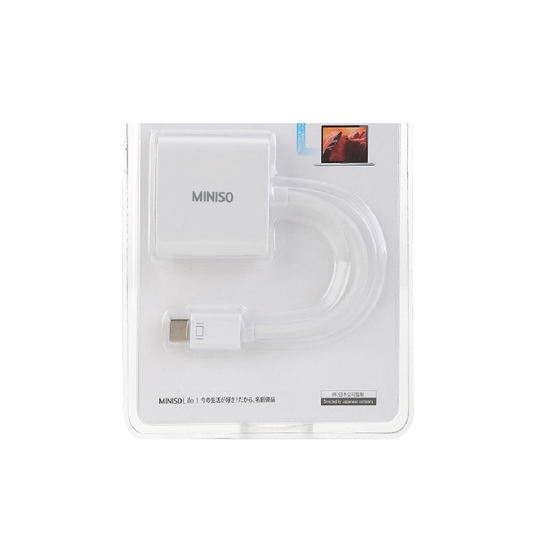 Cáp chuyển đổi mini DP sang VGA Miniso - Hàng chính hãng