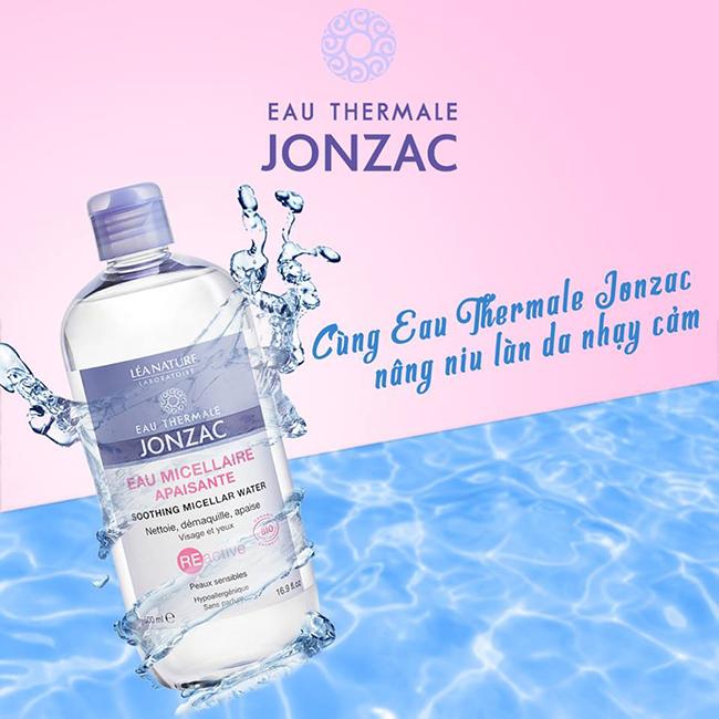 Combo Nước tẩy trang Eau Thermale Jonzac Dành cho da nhạy cảm và Kem dưỡng ẩm