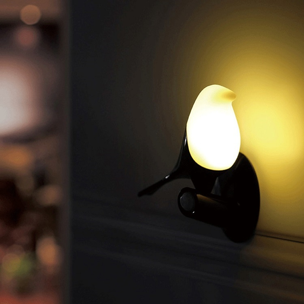 Đèn ngủ tích điện cảm biến chuyển động hồng ngoại cao cấp mô hình chim - Hàng nhập khẩu