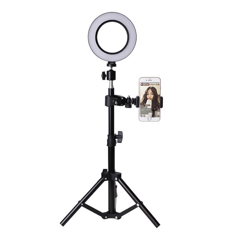 Ring light Đèn trợ sáng livestream 3 chế độ màu có thể điều chỉnh độ sáng kèm giá đỡ có sạc pin USB 10 inch thích hợp cho các bạn thường xuyên livestream selfie studio