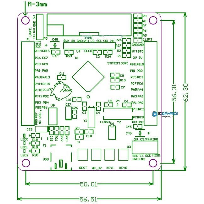 Kit STM32F103RCT6 ARM cortex-M3 mini